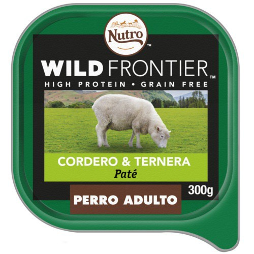 Paté Nutro Wild Frontier cordero y ternera para perros