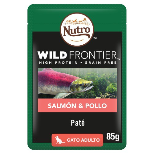 Paté Nutro Wild Frontier salmón y pollo para gatos