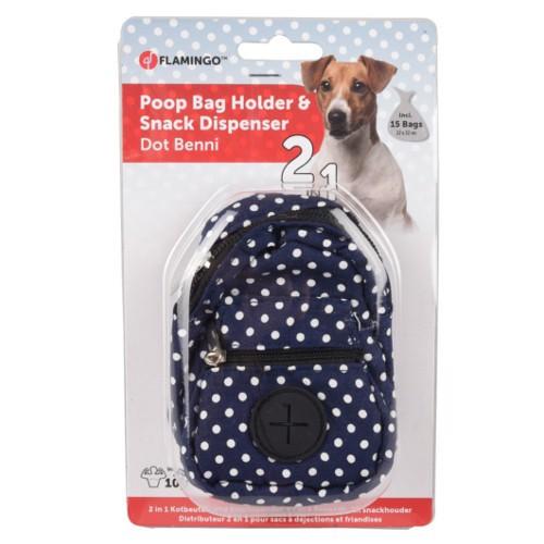 Portabolsas mochila azul