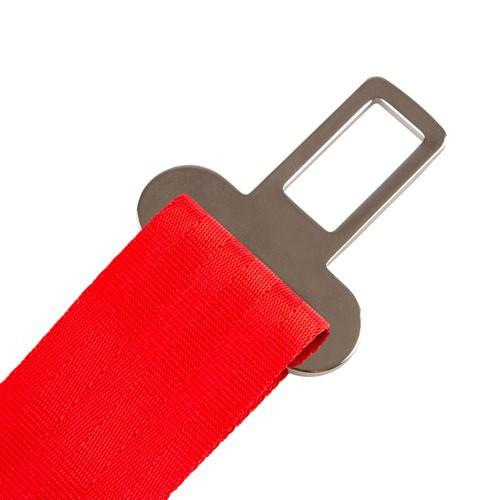 Adaptador cinturón seguridad XXL TK-Pet rojo
