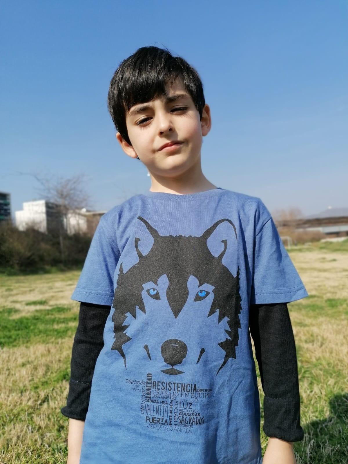 Camiseta niño/a lobo color Blanco