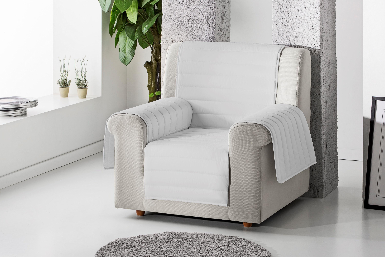 Cubre sillón acolchado reversible color Gris