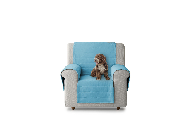 Cubre sillón acolchado reversible color Azul