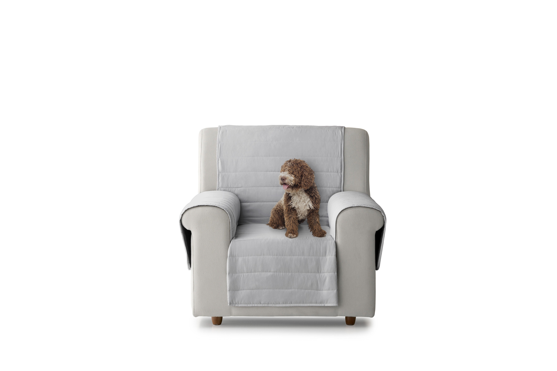 Cubre sillón acolchado reversible color Granate