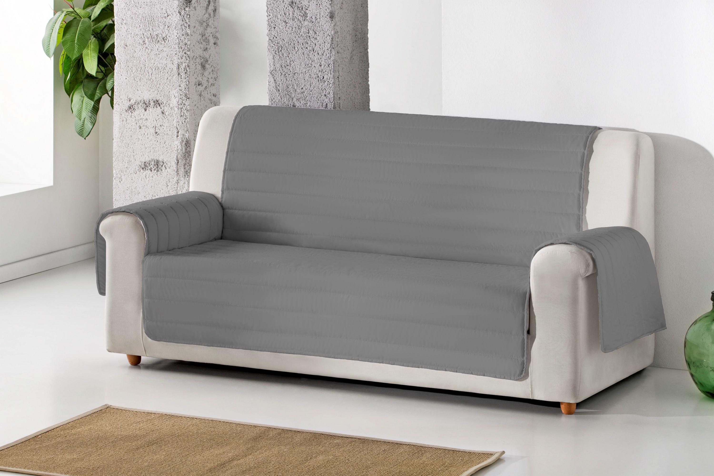 Cubre sofa acolchado reversible color Gris