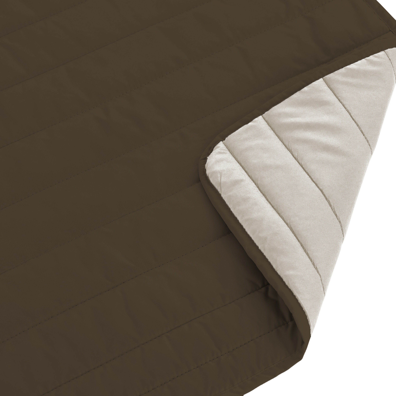 Cubre sofa acolchado reversible color Crudo
