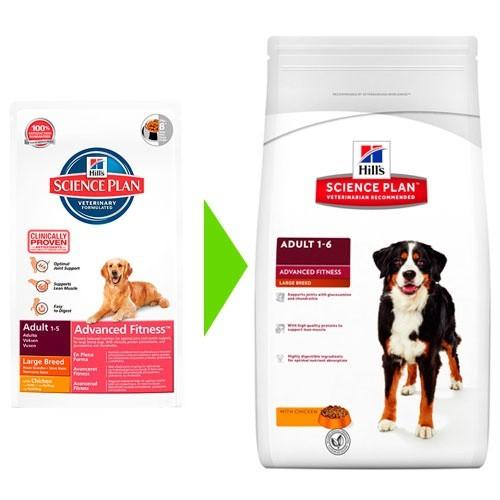 Hill's Canine Adult Advance Fitness Razas Grandes Pollo