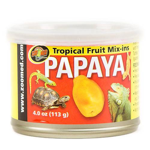 Fruta tropical para reptiles
