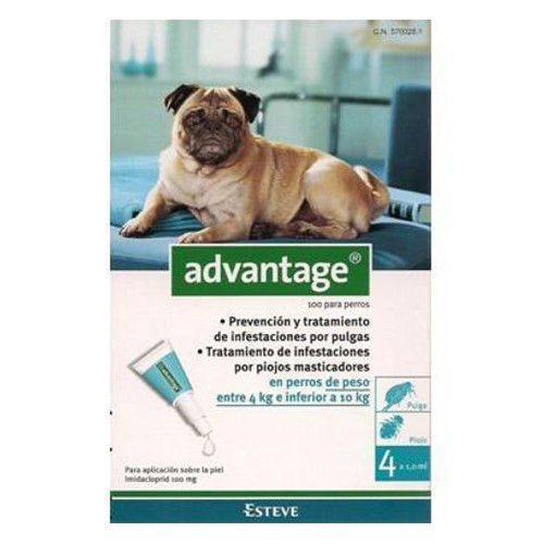 Pipeta antipulgas para perros Advantage