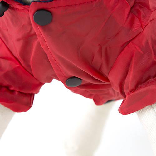 Chubasquero reflectante rojo para perros