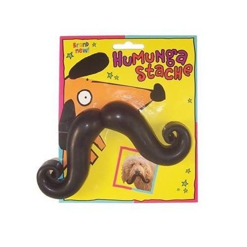 Humunga Stache Pelota con bigote postizo para perros