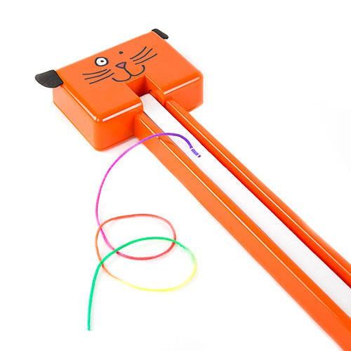 Locura felina juguete interactivo automático Fling-ama-string