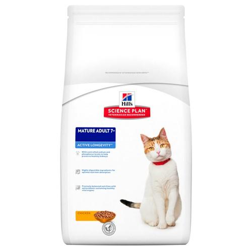 Hill's Feline Mature Adult 7  Active Longevity Pollo