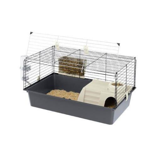 Jaula para conejos y cobayas con abertura delantera