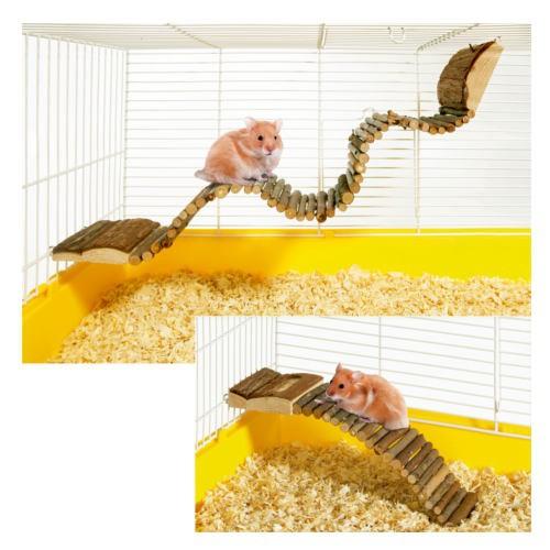 Escalera flexible de madera para roedores
