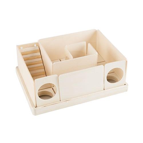 Laberinto desmontable de madera para hámster