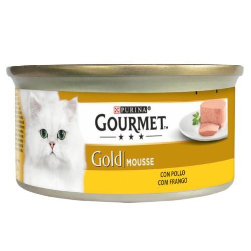 Gourmet mousse de pollo para gatos