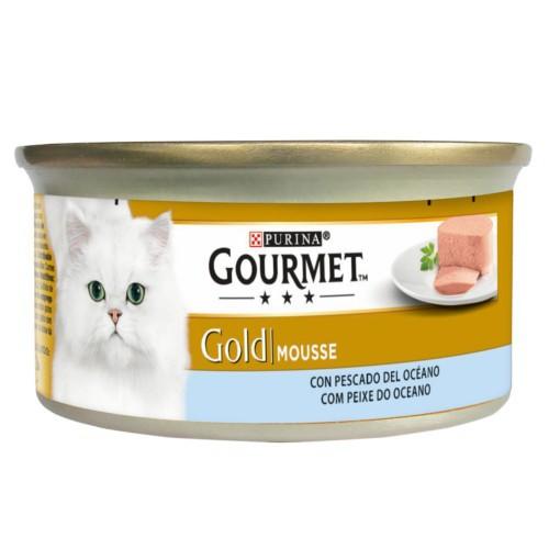 Gourmet mousse de Pescado del Océano para gatos