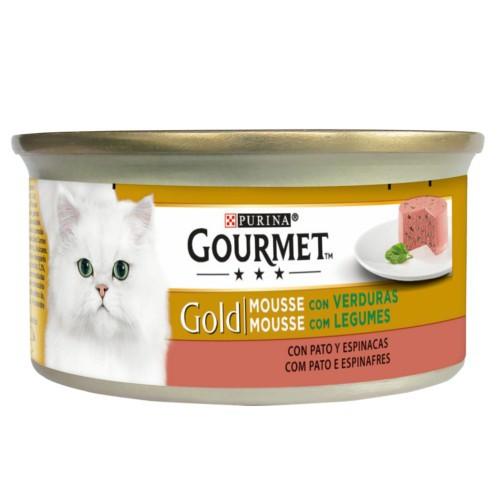 Gourmet mousse de Pato y espinacas para gatos