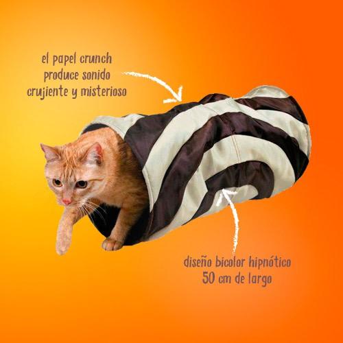 Túnel de Juego Crujiente para Gatos bicolor