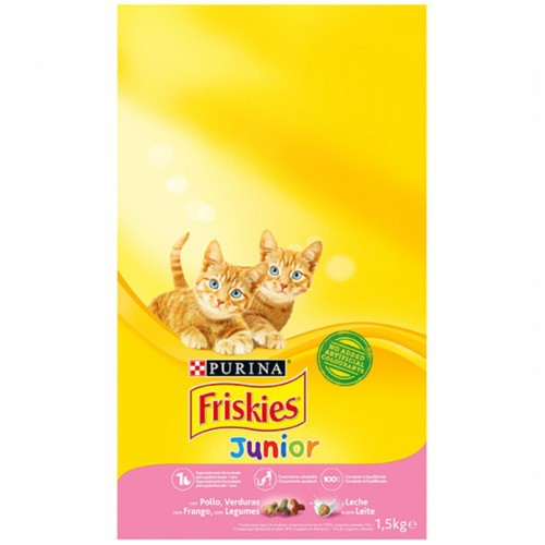Friskies gato Junior Pollo, Pavo y Verduras
