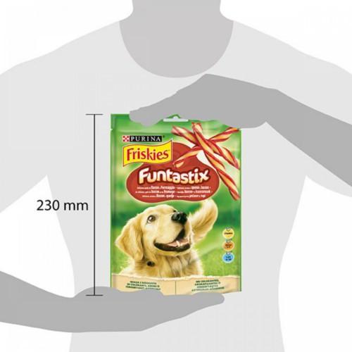 Friskies Funtastix barritas sabor queso y bacón para perros