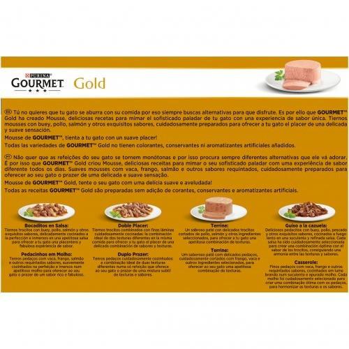 Gourmet Gold Multipack Mousses con pescado del océano