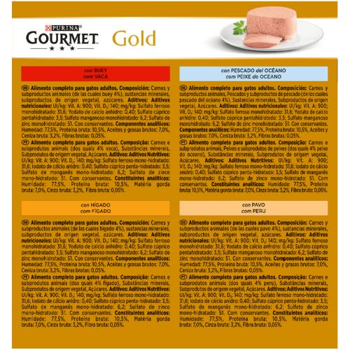 Gourmet Gold Multipack Mousses surtidos 4 sabores