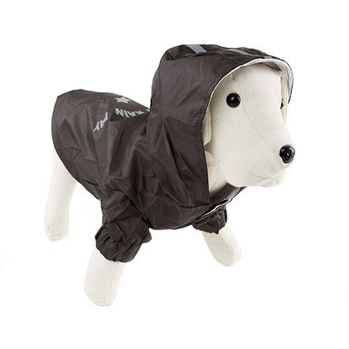 Enjoy the rain black raincoat for dogs