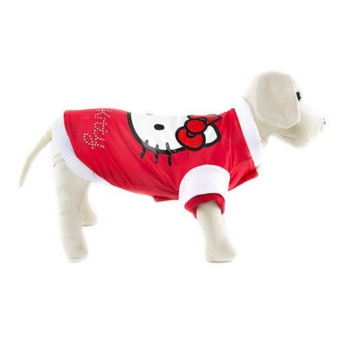 Bomber clásica roja acolchada Hello Kitty