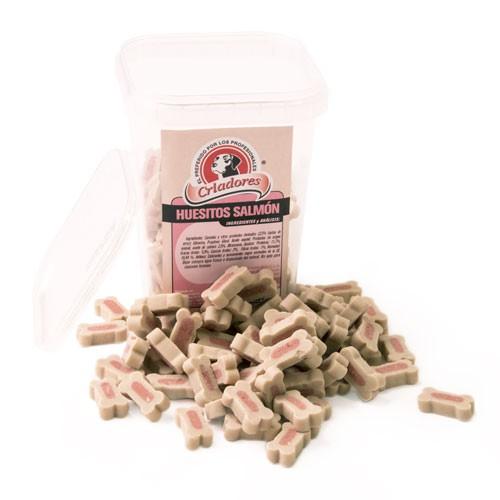Snack Criadores Húmedos Huesos Salmón para perros
